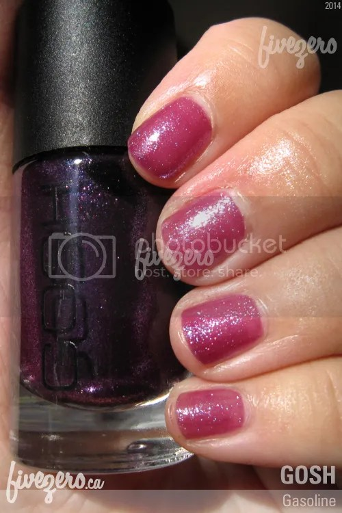 Gosh Nail Lacquer in Gasoline, swatch