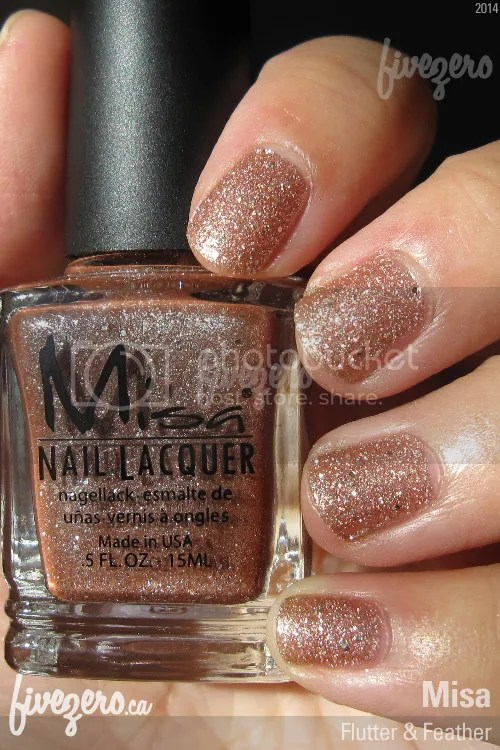 Misa Nail Lacquer in Flutter & Feather, swatch