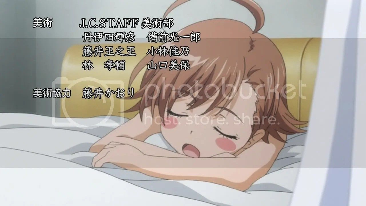 Last Order (MISAKA) hangs out with the recovering Accelerator.