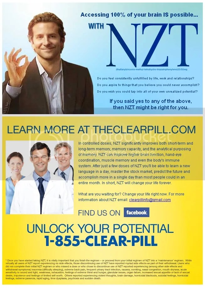 bradley cooper limitless NZT movie drug pill hot