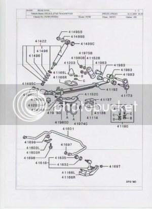 Mitsubishi Delica L300 Rear Suspension Exploded Diagram