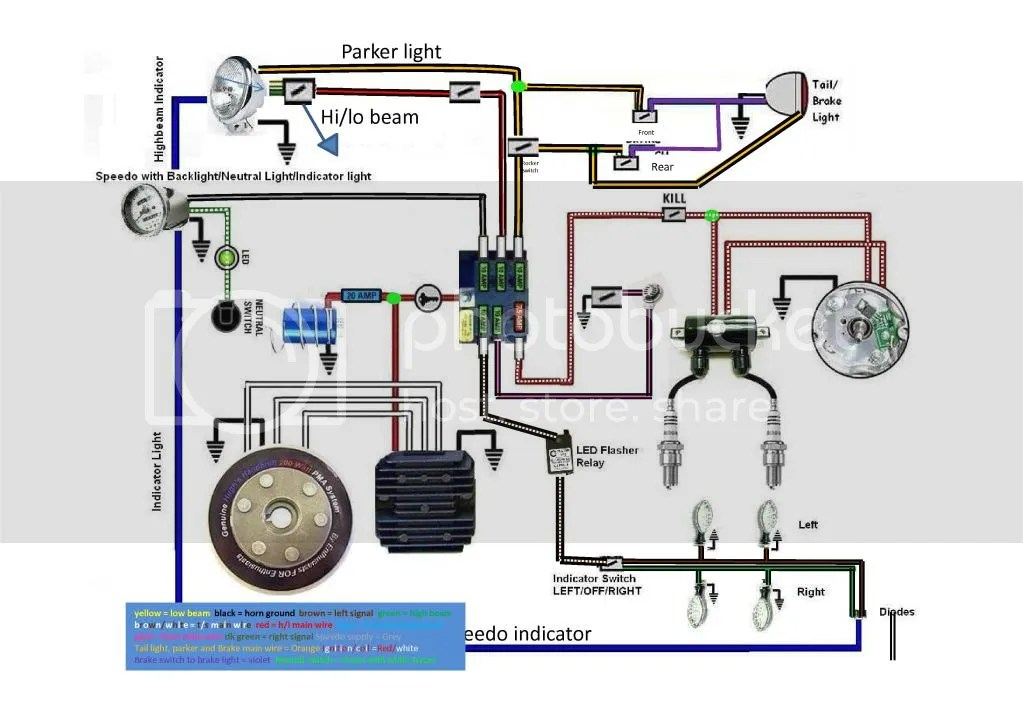 Xs650 Basic Wiring Diagram. . Wiring Diagram on