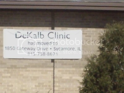 Clinic Moved Sign