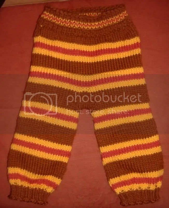 Brown Striped Snazzy Pants Longies, Newborn