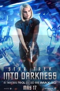 into darkness star trek alice eve poster