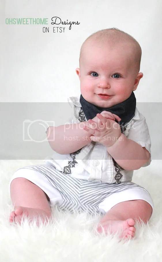 Denim reversible bandana bib by OhSweetHome Designs on Etsy