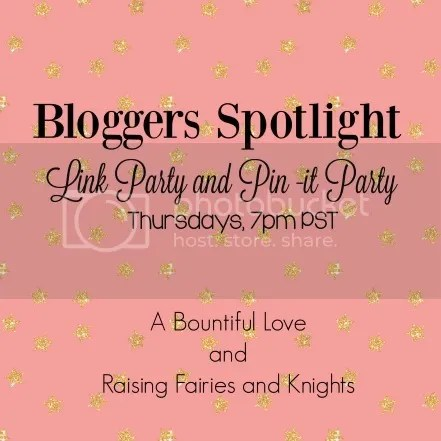 Bloggers Spotlight Link Party and Pin It Party on A Bountiful Love | @bisforbookworm