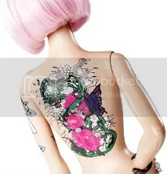 tattoed barbie
