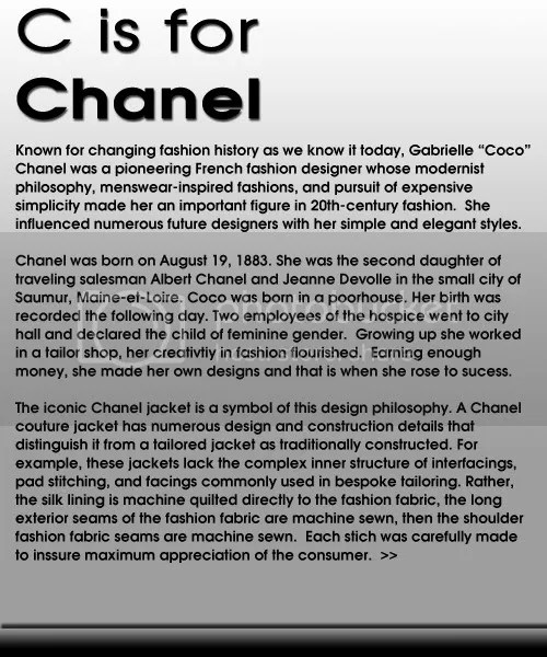 C is For Chanel