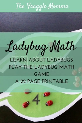 22 pages of amazing ladybug math fun. Learn about ladybugs and use then play the ladybug math game!