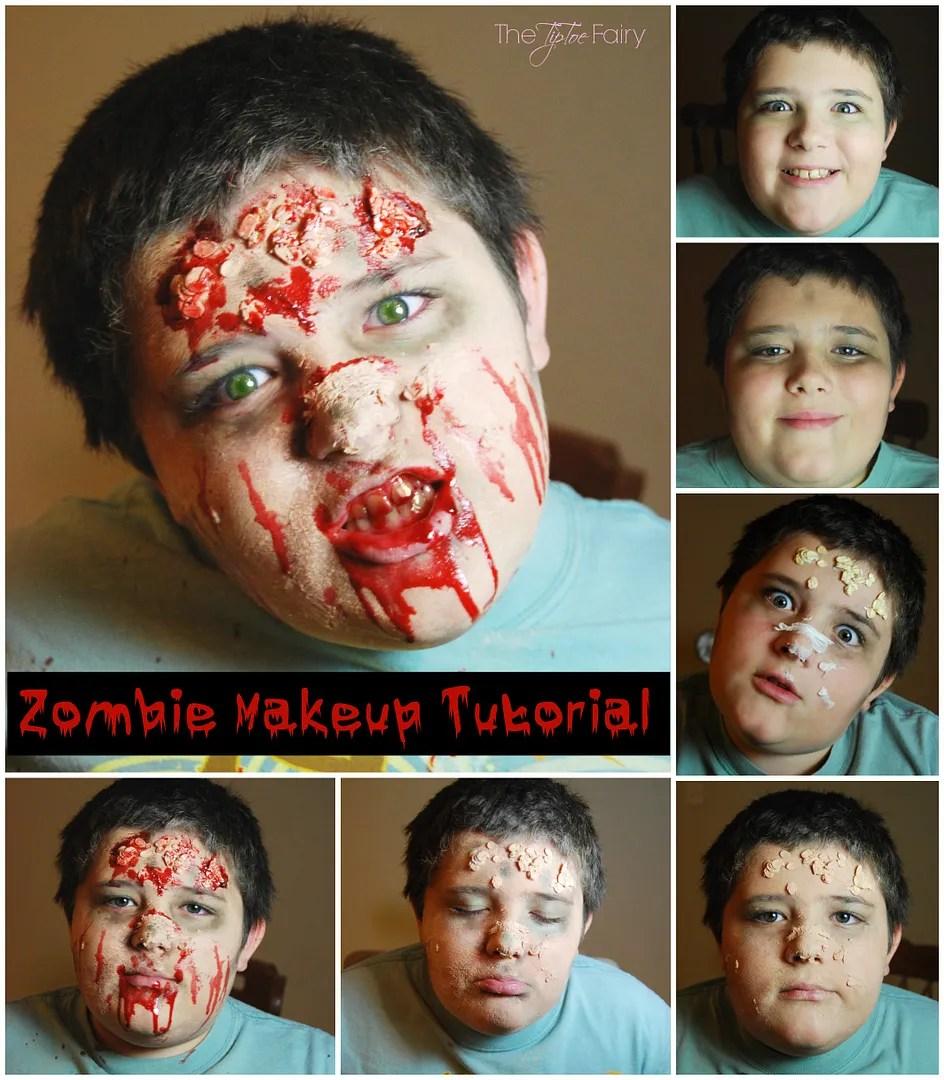 DIY Halloween Makeup for a Zombie | The TipToe Fairy #ad #NeutrogenaFaceOff #halloweenmakeup #halloweenDIY #halloweentutorial #zombiemakeup #zombieDIY