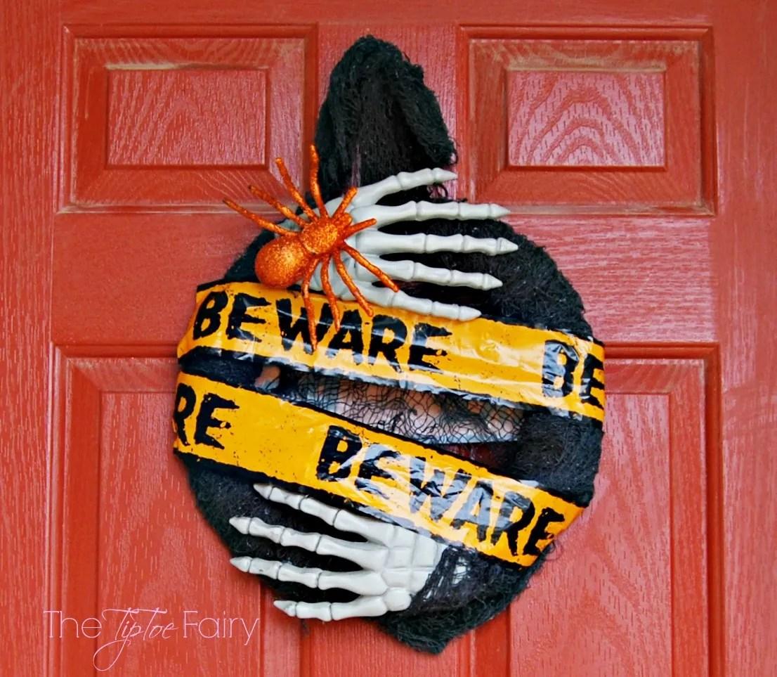 Beware of Monster Wreath & Dollar Tree Anniversary Celebration | The TipToe Fairy #DTAnniversary #ad #halloweendecor #halloween #wreathtutorial #halloweentutorial