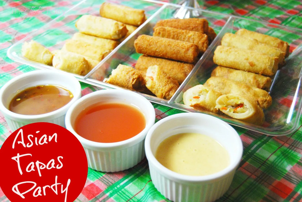 Asian Tapas Party with Tai Pei appetizers. Perfect for that holiday party! #TaiPeiGoodFortune #ad
