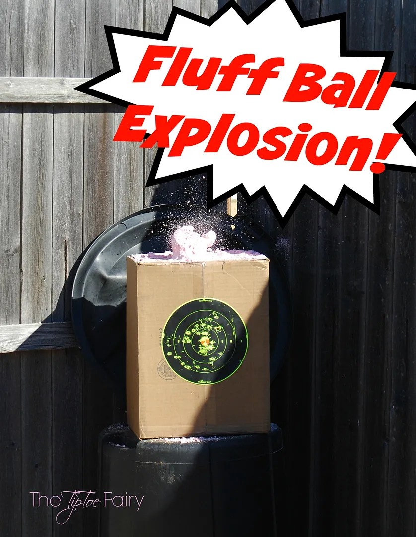Make fluff balls! A tutorial for target practice! Looking for the coolest Christmas gift for your tween or teen boy? How about a Daisy BB gun? He'll love it! #ItsADaisy #ad #giftsforboys