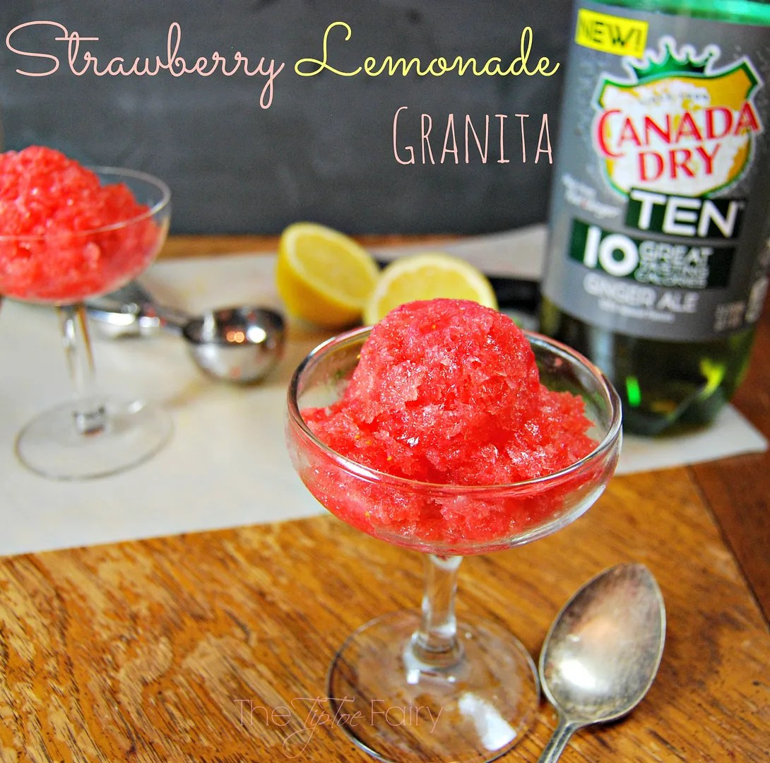 Strawberry Lemonade Granita | The TipToe Fairy #FlavorforLess #pmedia #ad