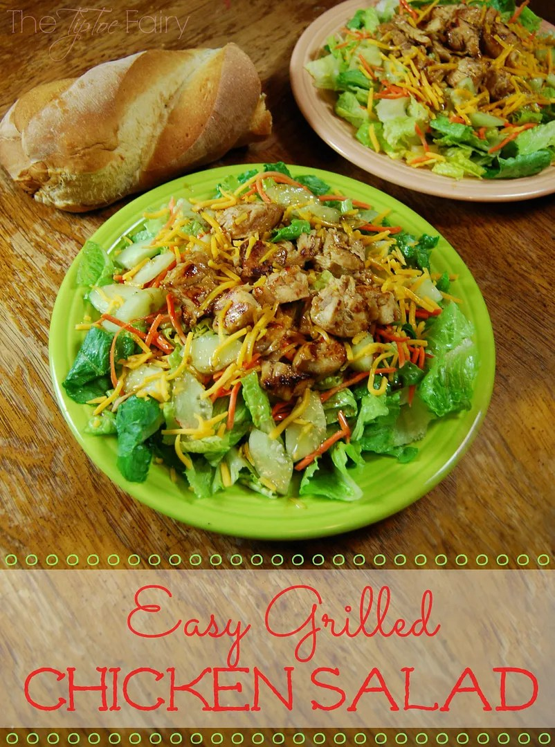 Easy Grilled Chicken Salad with Citrus Balsamic Vinaigrette #TysonMovieTicket #shop | The TipToe Fairy