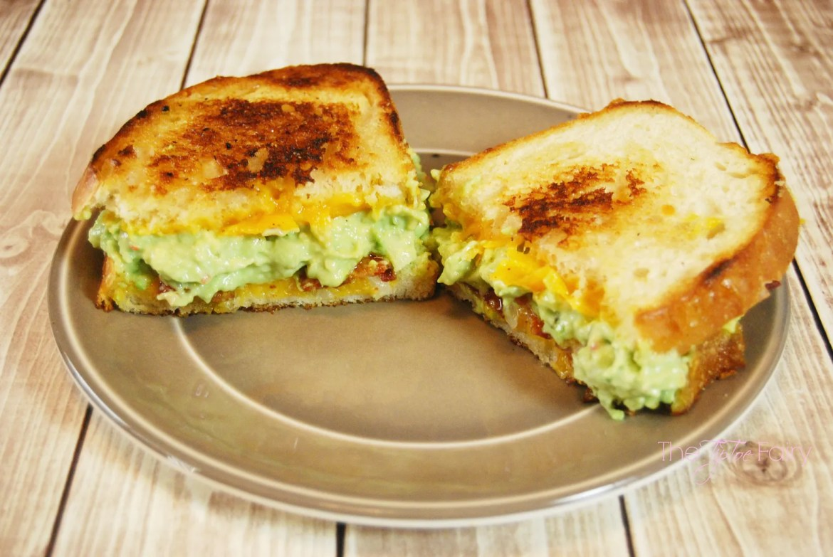 Bacon Grilled Cheese with Zesty Ranch Guacamole | The TipToe Fairy #FoodDeservesDelicious #shop #grilledcheese #recipe