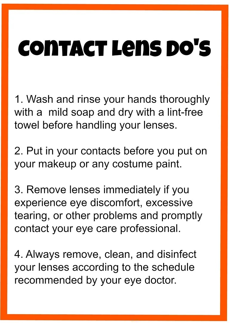 Do's & Don'ts of Contact Lens Care | The TipToe Fairy #contacts #contactlenscare #halloween #cosmeticcontacts
