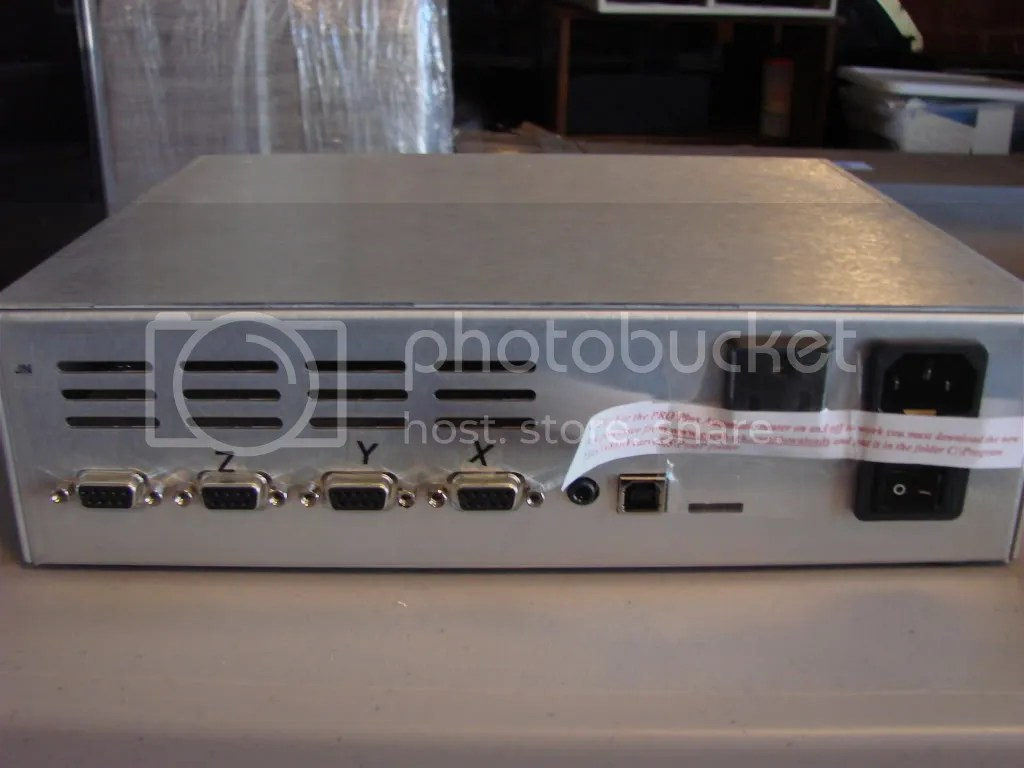 Rear View of the Controller Box showing connectors.