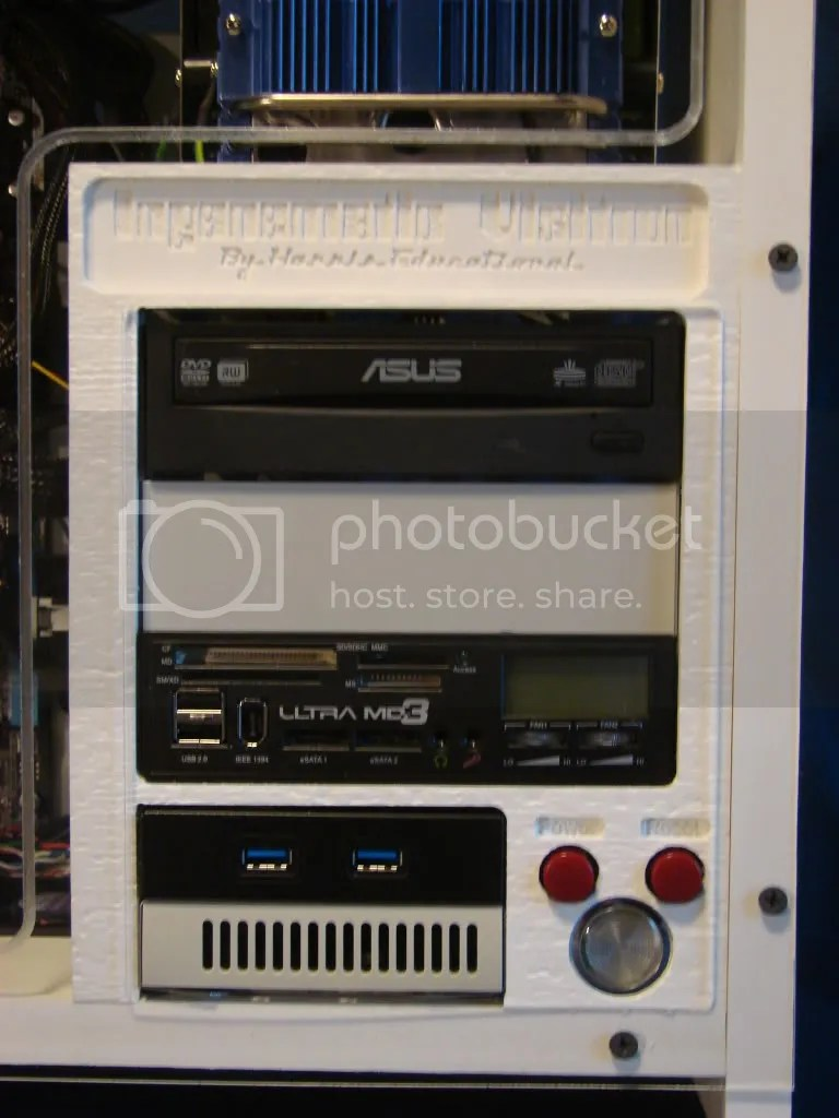 Closeup of the Drive Bay Bezel with name Plaque