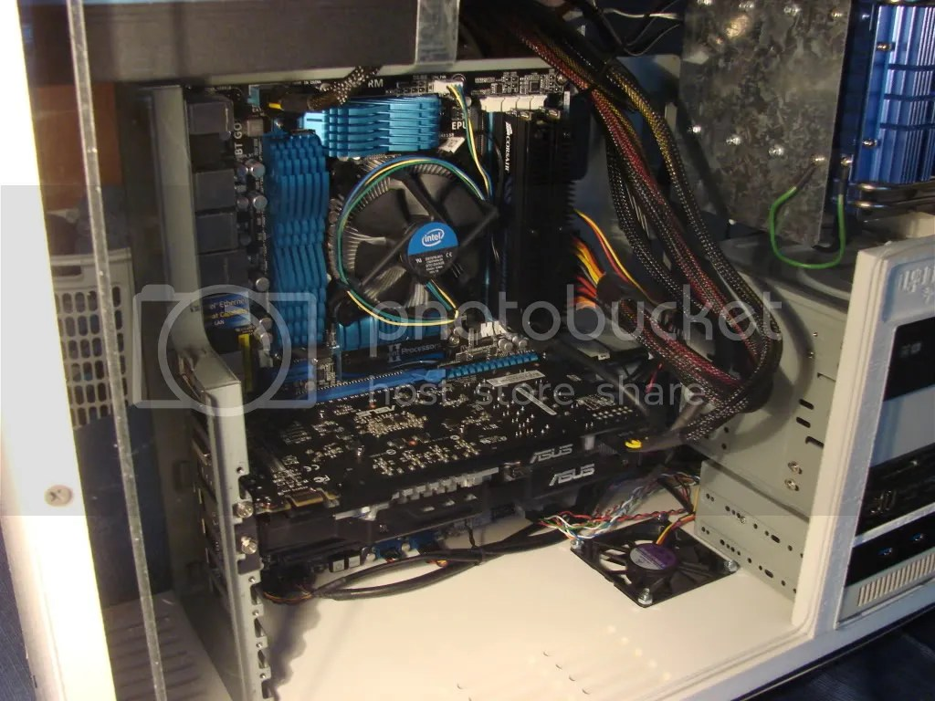 Closeup view of the inside of the case
