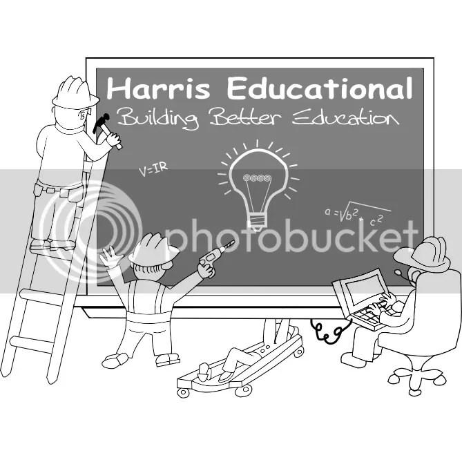 The Harris Educational Logo: Building Better Education
