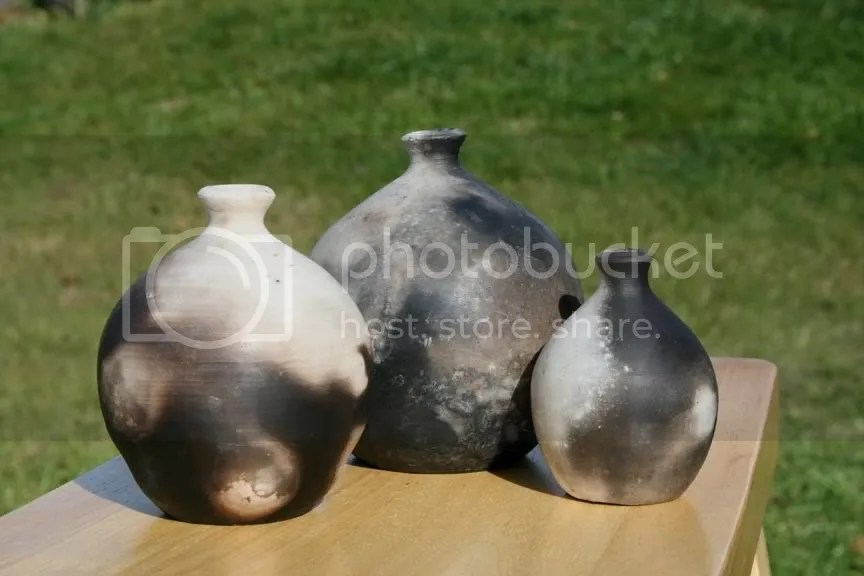 Pit-fired vessels, Sarah Jane Gray, fall '09