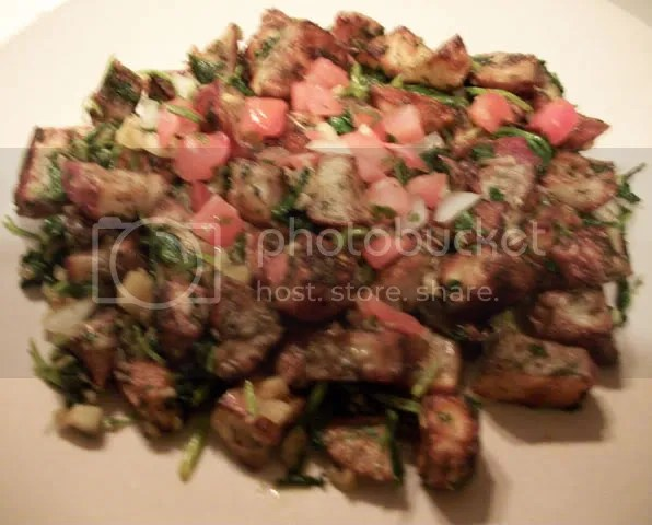 Batata hara - garlic and cilantro potatoes