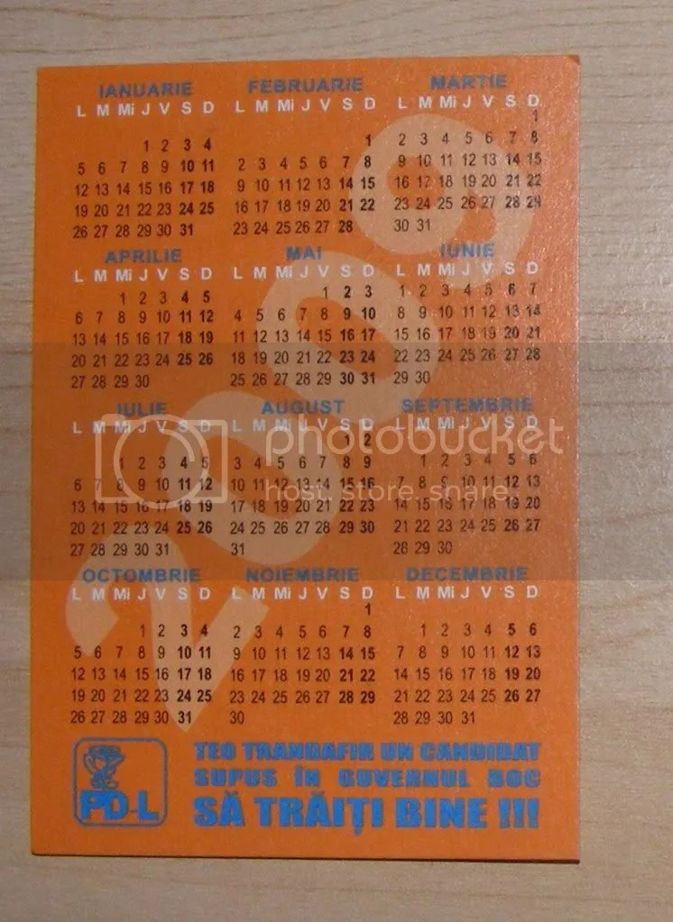 Calendar Teo Verso