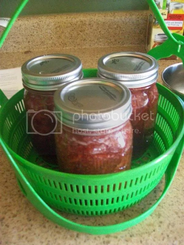 Strawberry jam preserves in the Ball canning for beginners basket