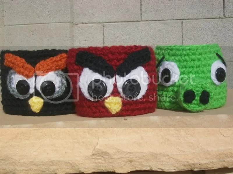 Angry Birds Coffee Cozy - Crochet Coffee Cozy