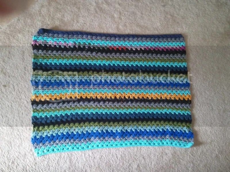 eighty percent completed granny stripes Lapghan
