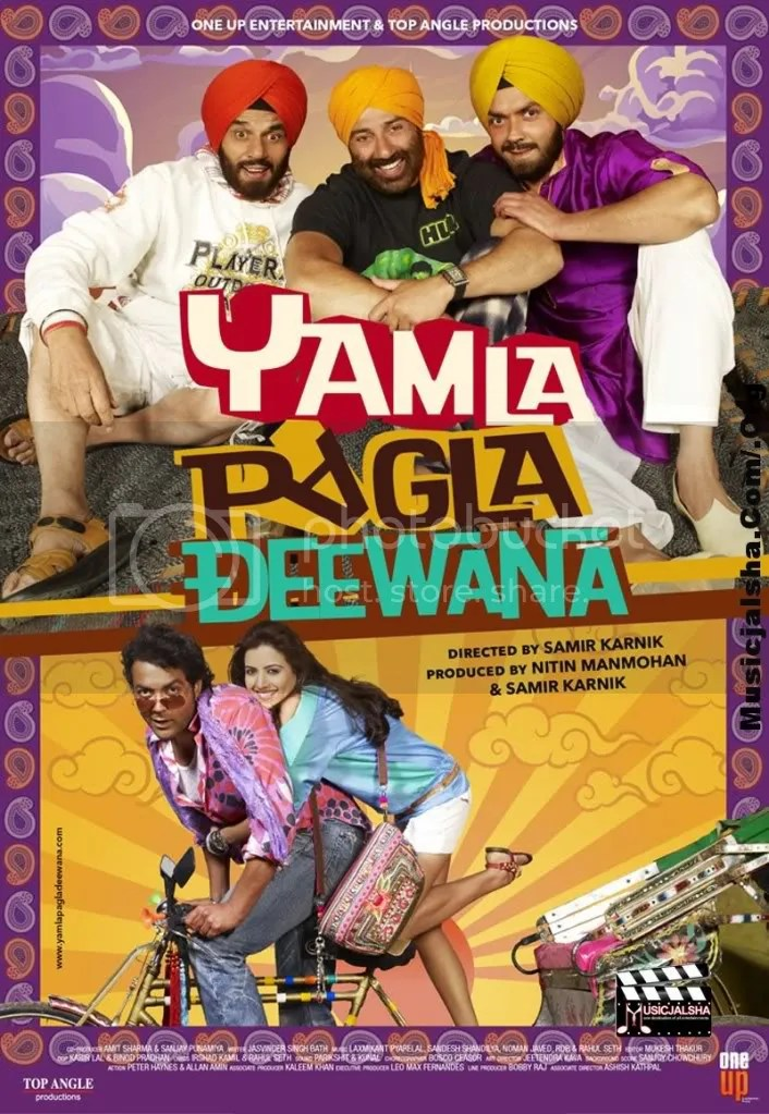 YAMLA PAGLA DEEWANA HINDI MOVIE MP3 AUDIO SONGS FREE DOWNLOAD AND LISTEN