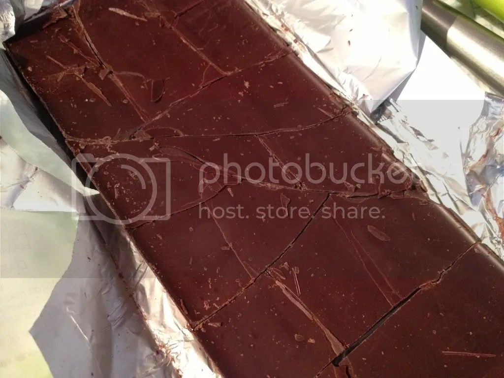 Break your bars of chocolate up by cracking them on the counter or cutting them up into pieces.