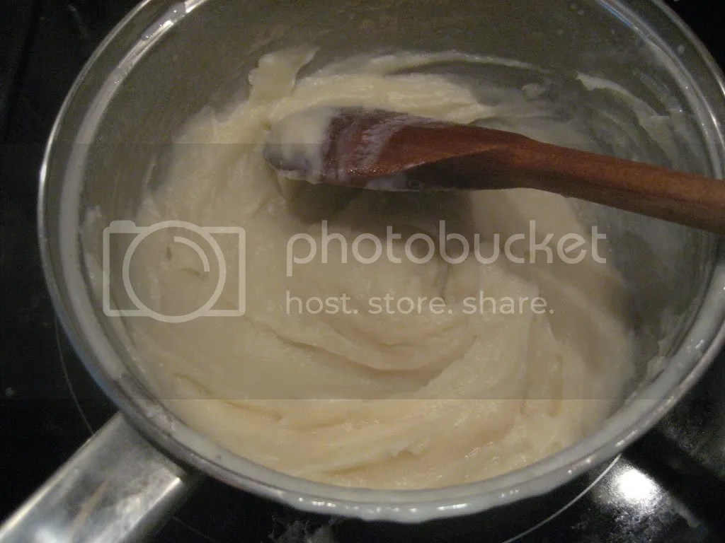 Heat until the mixture becomes a thick paste