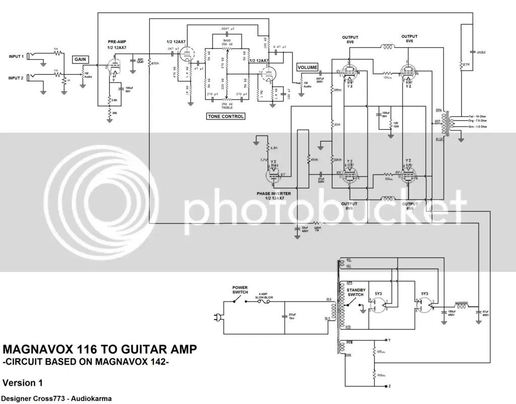 Magnavox 116 To Guitar Amp
