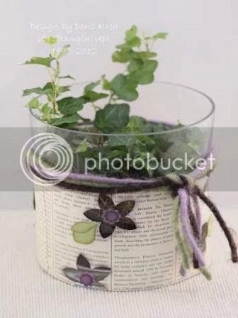 Blumenvase dekoriert