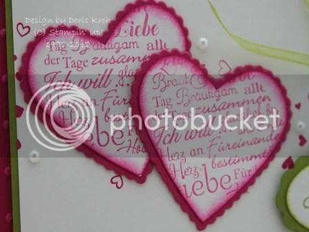 Hochzeitskarte Herzen