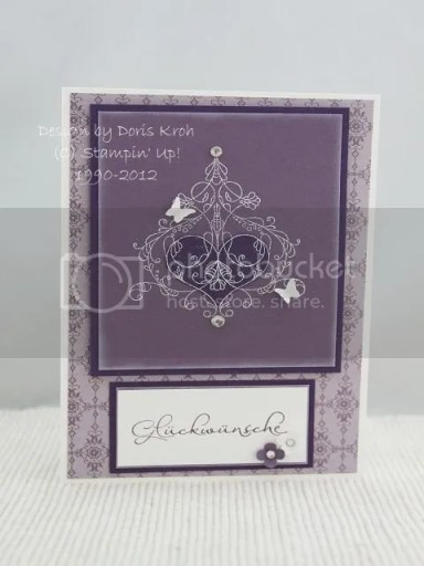 Hochzeitskarte in Pflaumenblau