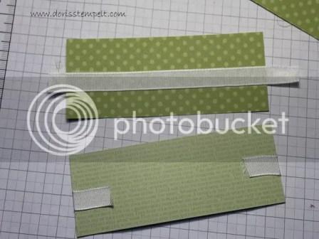 Designer Papier mit Band beklebt