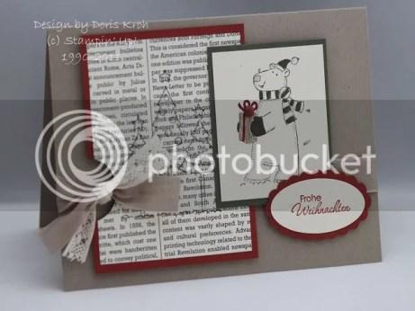 Weihnachtskarte mit Eisbär