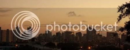 Honolulu at Sunset