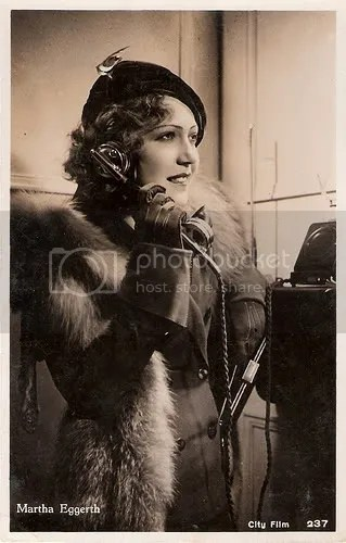 Vintage 1930's Fashion Woman Telephone