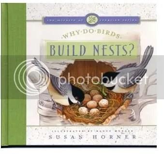 Birds building a nest