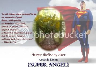 Super Angel Birthday Card