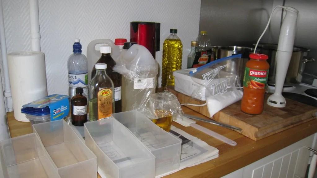 Såpeproduksjon forberedt