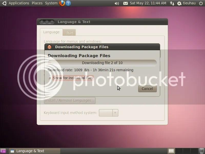 Cài đặt ngôn ngữ tiếng Việt cho Ubuntu (5/6)