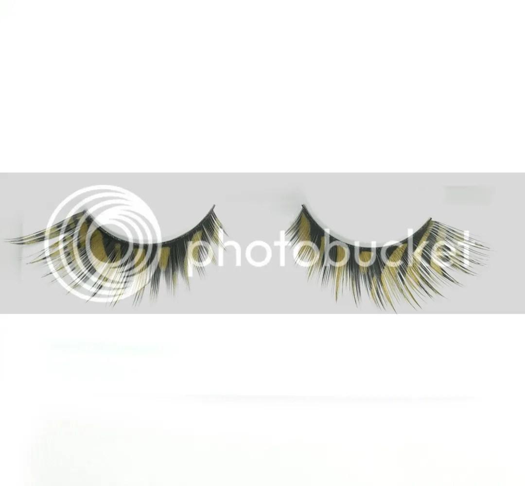 Gorgeous Mixed Color False Eyelashes Fake Lashes Extention