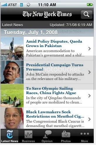 NYTimes iPhone App