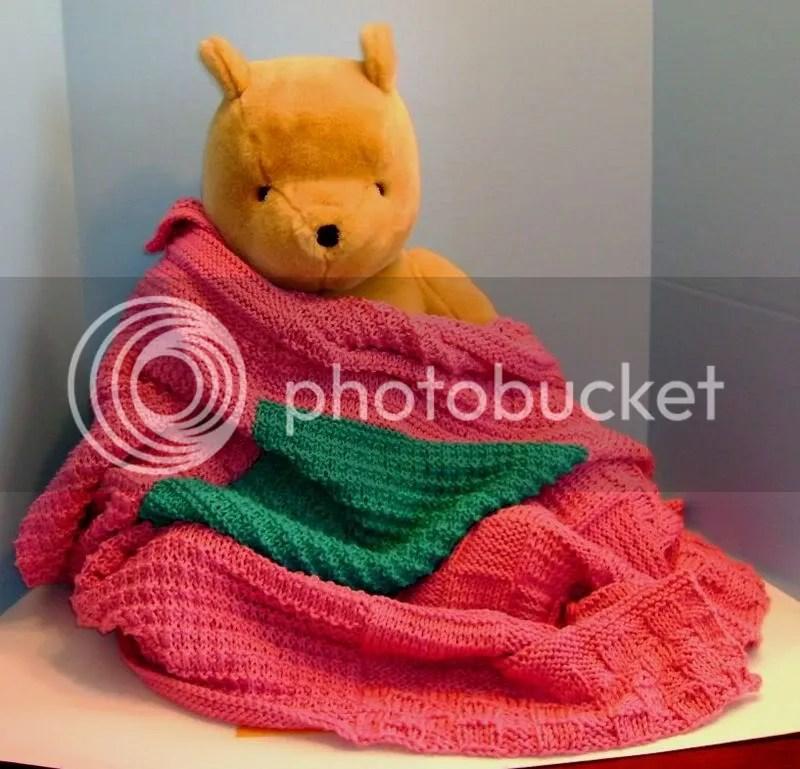teal baby blanket